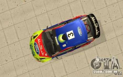 2 obras de pintura para o Ford Focus RS WRC 08 para GTA San Andreas traseira esquerda vista
