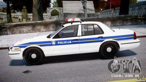 Ford Crown Victoria Croatian Police Unit para GTA 4 esquerda vista