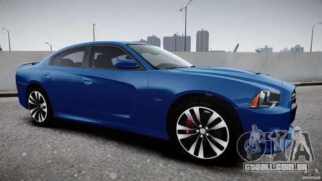 Dodge Charger SRT8 2012 para GTA 4 traseira esquerda vista
