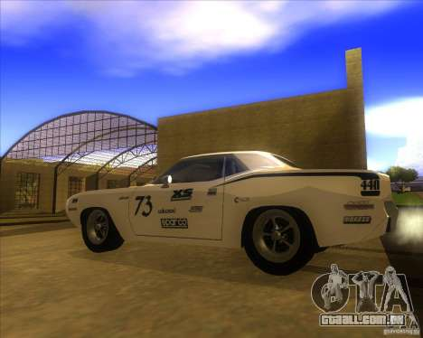 Plymouth Hemi Cuda para GTA San Andreas esquerda vista