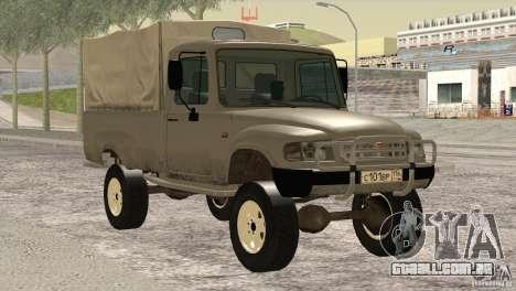 GÁS 2308 Ataman para GTA San Andreas vista traseira