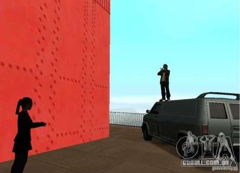 Um homem-bomba na ponte para GTA San Andreas por diante tela