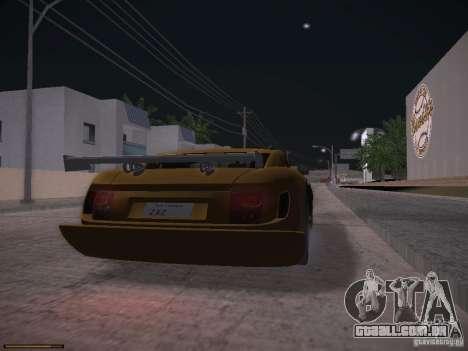TVR Cerbera Speed 12 para GTA San Andreas esquerda vista