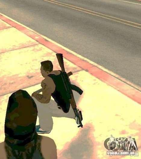 Armas no corpo para GTA San Andreas por diante tela