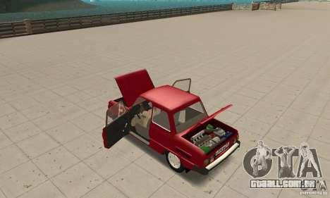 ZAZ 968M para GTA San Andreas vista interior