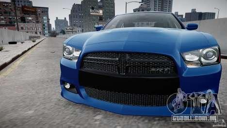 Dodge Charger SRT8 2012 para GTA 4 vista de volta