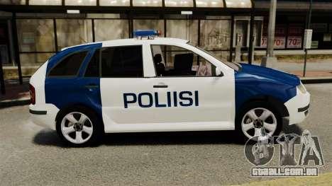 Skoda Fabia Combi Finnish Police ELS para GTA 4 esquerda vista