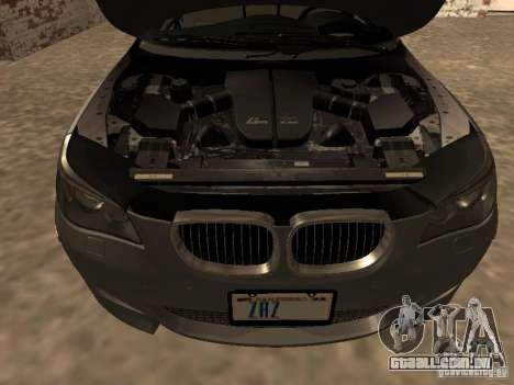 BMW M5 E60 2009 v2 para GTA San Andreas vista superior