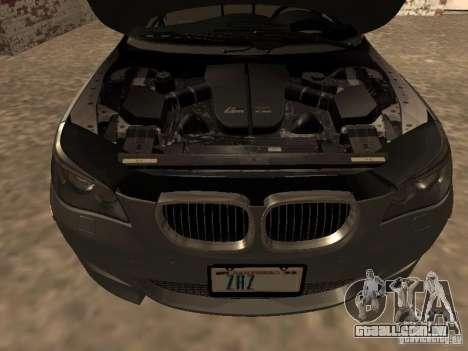 BMW M5 E60 2009 v2 para GTA San Andreas vista superior