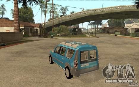 Dacia Logan Steppe Concept para GTA San Andreas traseira esquerda vista