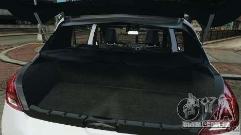 Peugeot 308 GTi 2011 Police v1.1 para GTA 4 vista inferior