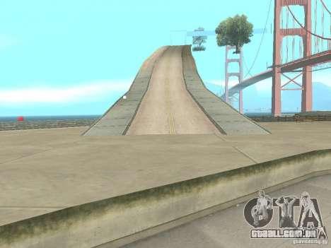 New Drift Track SF para GTA San Andreas por diante tela