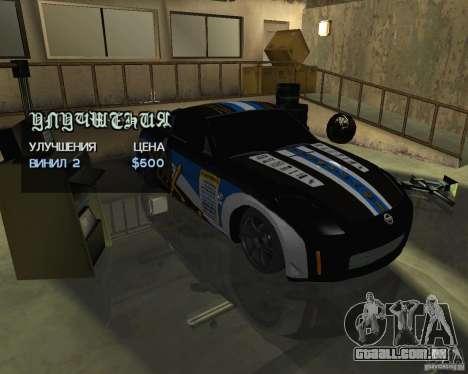 Nissan 350Z Tunable para GTA San Andreas vista direita