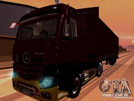 Mercedes Benz Actros MP4 para vista lateral GTA San Andreas