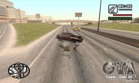 A perda de vidas no acidente para GTA San Andreas