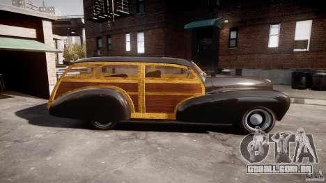 Chevy Fleetmaster Woody Kustom 1948 para GTA 4 esquerda vista