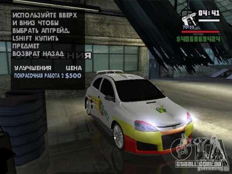 Opel Corsa Sport para GTA San Andreas vista interior