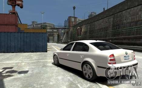 Skoda SuperB para GTA 4 traseira esquerda vista