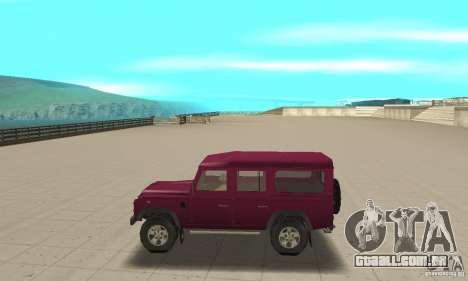 Land Rover Defender 110SW para GTA San Andreas esquerda vista