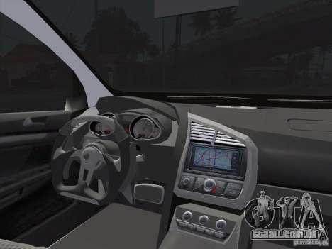 Volkswagen Golf V R32 Custom para GTA San Andreas traseira esquerda vista