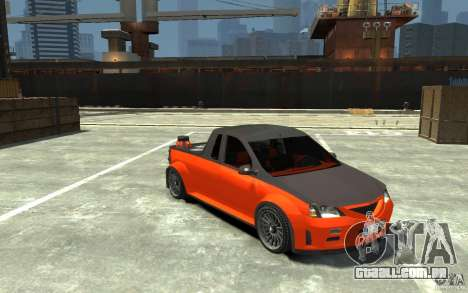 Dacia Pick-up Tuning para GTA 4 vista de volta