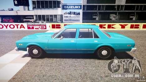 Dodge Aspen v1.1 1979 yellow rear turn signals para GTA 4 esquerda vista