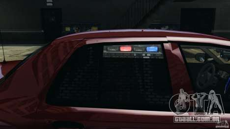 Ford Crown Victoria Police Unit [ELS] para GTA 4 interior