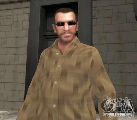 Novos óculos para Niko-preto para GTA 4 segundo screenshot