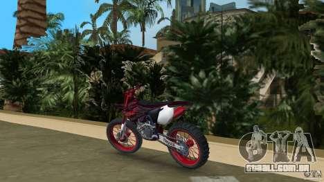 Yamaha v.2 para GTA Vice City vista traseira esquerda