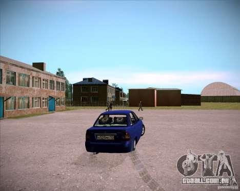 Lada Priora Chelsea para GTA San Andreas traseira esquerda vista