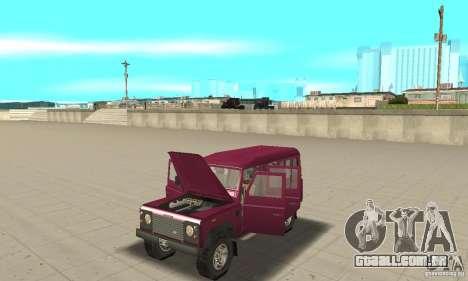 Land Rover Defender 110SW para GTA San Andreas vista traseira