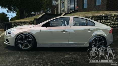 Volvo S60 R Design para GTA 4 esquerda vista