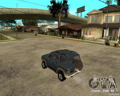 UAZ Patriot 4 x 4 para GTA San Andreas esquerda vista