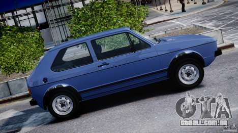 Volkswagen Golf Mk1 para GTA 4 vista inferior