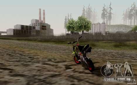 Kawasaki 50cc Pocket Factory Bike para GTA San Andreas traseira esquerda vista