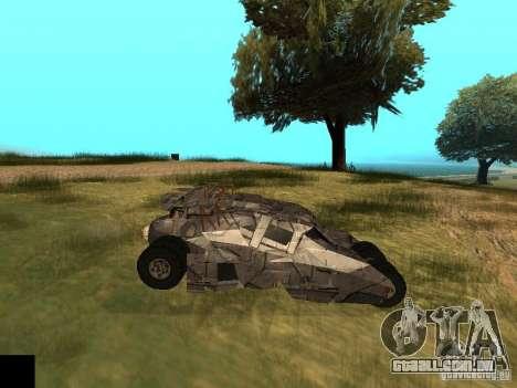 Batman Car para GTA San Andreas vista interior