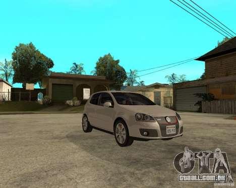 Volkswagen Golf V GTI para GTA San Andreas vista direita