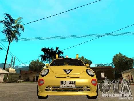 Volkswagen Beetle Pokemon para GTA San Andreas vista direita