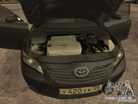 Toyota Camry para GTA San Andreas vista interior