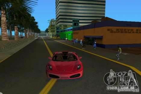 Ferrari F430 Spider 2005 para GTA Vice City vista traseira esquerda