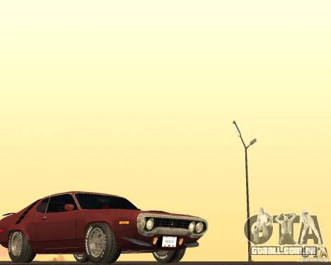 Plymouth Roadrunner para GTA San Andreas vista interior