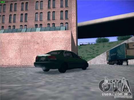 Honda Civic Sedan 1997 para GTA San Andreas traseira esquerda vista