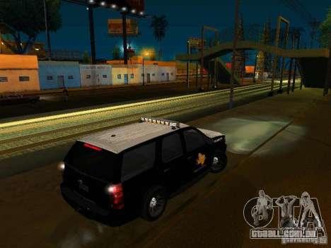 Chevrolet Tahoe Texas Highway Patrol para GTA San Andreas esquerda vista