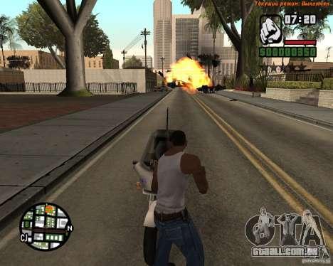 Super chute para GTA San Andreas por diante tela