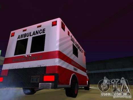 Ambulance 1987 San Andreas para GTA San Andreas esquerda vista