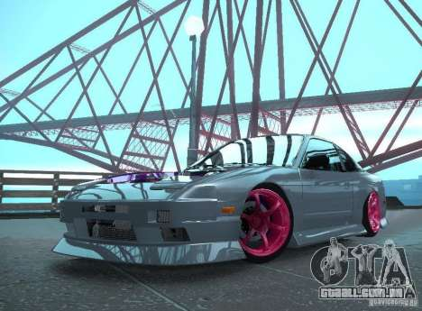 Nissan 240SX Team Top Flight para GTA San Andreas traseira esquerda vista