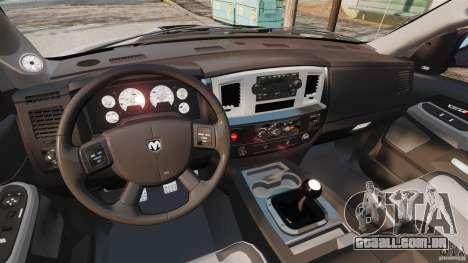 Dodge Ram SRT-10 2006 EPM para GTA 4 vista de volta