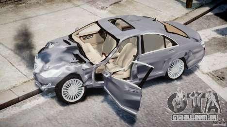Mercedes-Benz S-Class 2007 para GTA 4 rodas