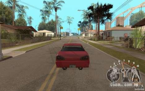 Digital speedometer and tachometer para GTA San Andreas