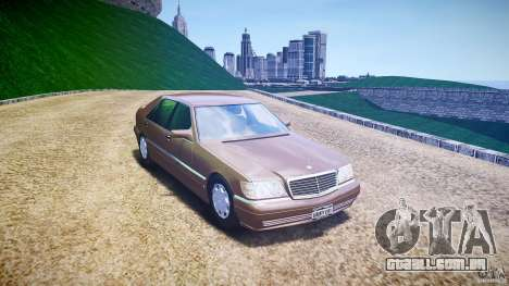 Mercedes Benz SL600 W140 98 performance shafter para GTA 4 vista de volta